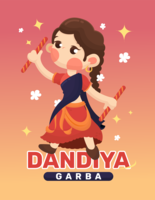 Dandiya and Garba Poster