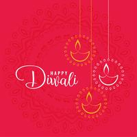 elegant happy diwali festival greeting background