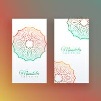 white card with colorful mandala decoration