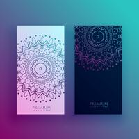 hermosas plantillas de diseño de tarjeta de mandala