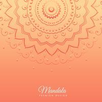 fundo laranja com design de mandala