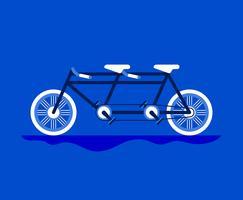 Tandem Bike Illustration
