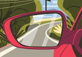 Rear View Mirror Vector Design