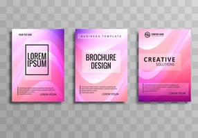 Beautiful business brochure colorful wave template design