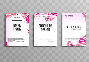 Modern colorful floral business brochure set template