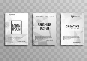 Modern business polygon brochure set template