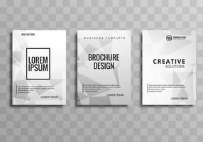 Plantilla de negocio moderno polígono folleto conjunto