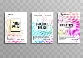 Abstract colroful dotted business brochure set template design