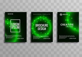 Modern green colorful business brochure template set background