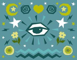 All seeing eye icons