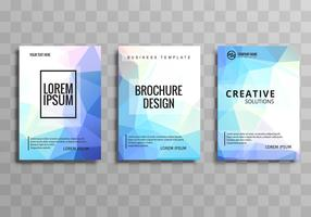 Modern colroful business brochure template set design