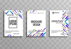 Moderne businss brochure sjabloon set