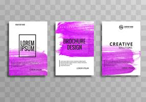 Modern business brochure template set design