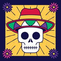 Skull-the-day-of-the-death-vector-illustration