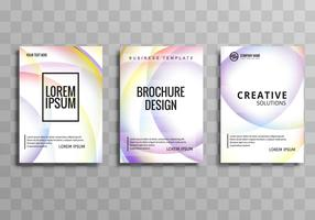 Beautiful elegant colorful business brochure template set