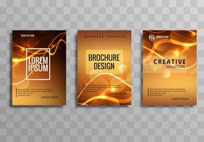 Abstract shiny colorful business brochure template set