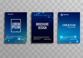 Abstract blue colorful business brochure template set design