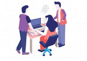 Isometric Teamwork Vol 4 Vector