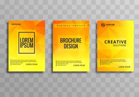 Abstract colorful polygon business brochure background set