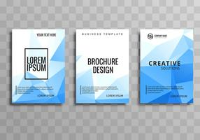 Modern blue business brochure polygon template