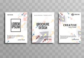 Modern business brochure arrow template set
