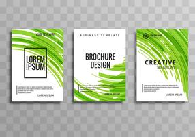 Abstract blue business brochure wave template design