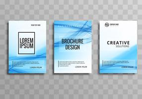 Abstract business brochure template set design vector