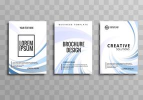 Abstract creative wavy business brochure template