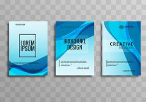 Abstract blauw golfbusiness brochure vastgesteld ontwerp