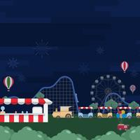County Fair Vector Illustration