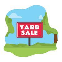 Yard Sale Sign Vector