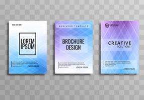 Beautiful business brochure background set design