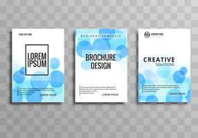 Beautiful circle business brochure template set vector