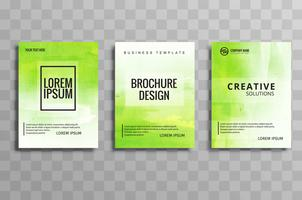 Modern green buisness brochuse template set design