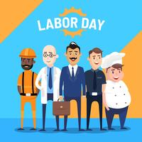 Labor Day Greeting Vector