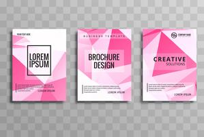 Modern polygon business brochure set template