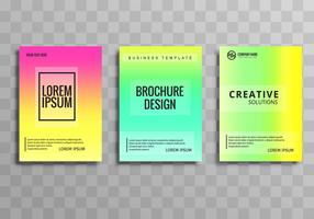 Abstract colorful business brochure template