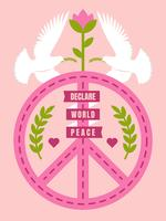 Beautiful Peace And Love Vectors