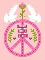 Beautiful Peace And Love Vectors