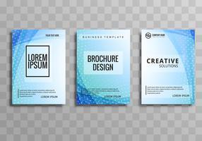 Modernt färgstarkt företagsbroschyr våg mall design