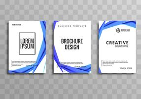 Abstract business brochure template set vector