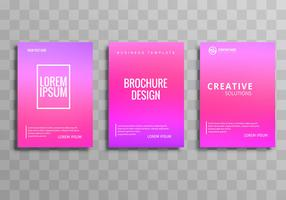 Modern colorful business brochure template set