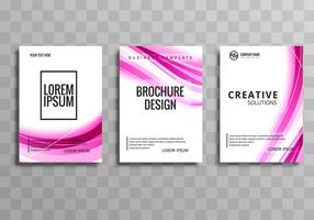 Beautiful business brochure wave template design