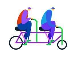 Vecteurs uniques de vélo tandem