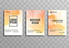 Abstract colorful  business brochure template set