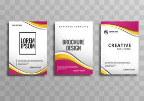 Abstract business brochure set template vector