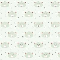 cute teddy bear pattern design for kids