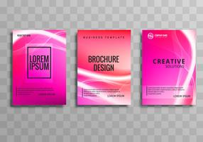 Abstract colorful business brochure set template design