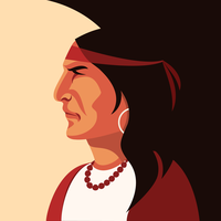 Native American Indian Portrait Vector
