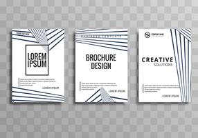 Modern business brochure geometric template design